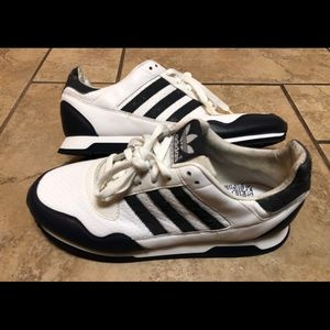 ADIDAS ZXZLEA Navy White Mens Sz 10 Sneakers